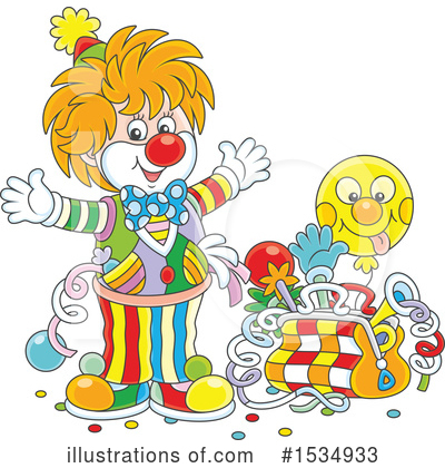 Clown Clipart #1534933 by Alex Bannykh