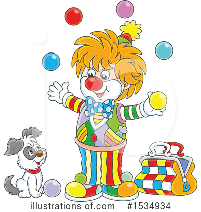 Clown Clipart #1534934 by Alex Bannykh