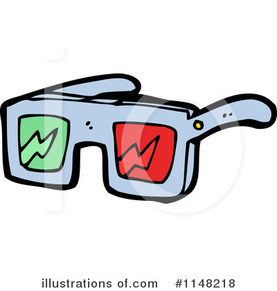 Royalty-Free (RF) 3d Glasses Clipart Illustration by lineartestpilot - Stock Sample #1148218