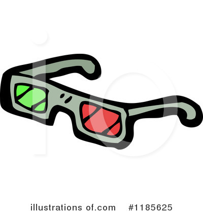 3d Glasses Clipart #1185625 by lineartestpilot