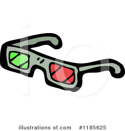 3d Glasses Clipart #1185625 - Illustration by lineartestpilot