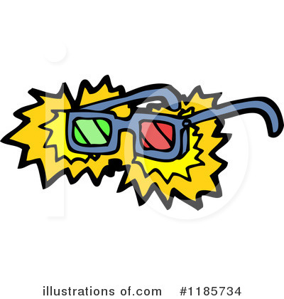 3d Glasses Clipart #1185734 by lineartestpilot