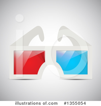 3d Glasses Clipart #1355054 by vectorace