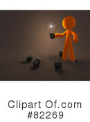 Royalty-Free (RF) 3d Orange Man Clipart Illustration #82269