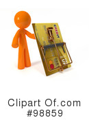 Royalty-Free (RF) 3d Orange Man Clipart Illustration #98859