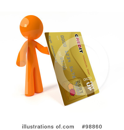 Credit Card Clipart #98860 by Leo Blanchette