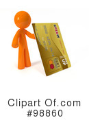 Royalty-Free (RF) 3d Orange Man Clipart Illustration #98860