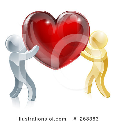 Couple Clipart #1268383 by AtStockIllustration