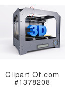 3d Printer Clipart #1378208 by KJ Pargeter