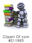Royalty-Free (RF) 3d Robot Clipart Illustration #211883