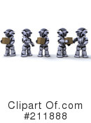 Royalty-Free (RF) 3d Robot Clipart Illustration #211888
