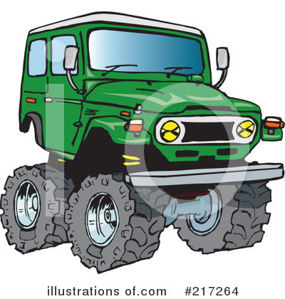 Jeep Clipart #217264 by Dennis Holmes Designs