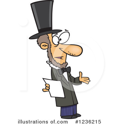 Abraham Lincoln Clipart #1236215 by toonaday
