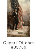 Royalty-Free (RF) Abraham Lincoln Clipart Illustration #33709