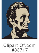 Royalty-Free (RF) Abraham Lincoln Clipart Illustration #33717