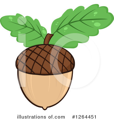 Acorn Clipart #1264451 by Hit Toon