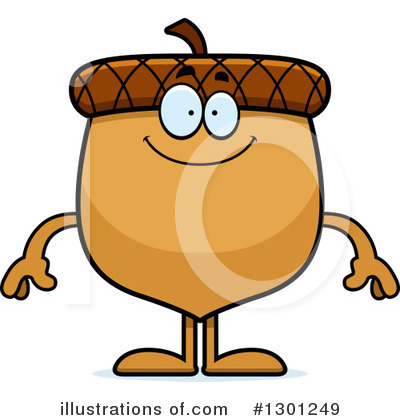 Acorn Clipart #1301249 by Cory Thoman