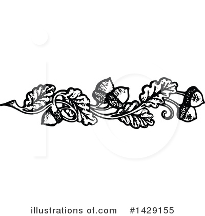 Royalty-Free (RF) Acorn Clipart Illustration by Prawny Vintage - Stock Sample #1429155