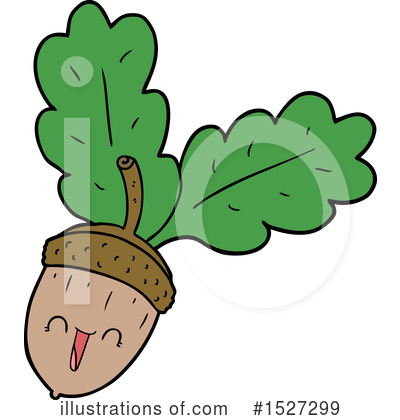 Royalty-Free (RF) Acorn Clipart Illustration by lineartestpilot - Stock Sample #1527299