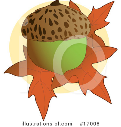Acorn Clipart #17008 by Maria Bell