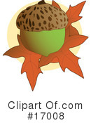 Royalty-Free (RF) Acorn Clipart Illustration #17008