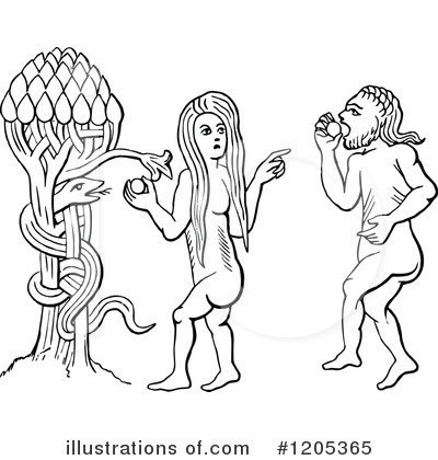 Adam And Eve Clipart #1205365 by Prawny Vintage