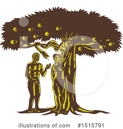 Adam And Eve Clipart #1515791 by patrimonio