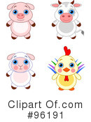 Royalty-Free (RF) Adorable Animals Clipart Illustration #96191