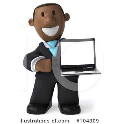 Black Businessman Clipart #104309 by Julos