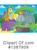 Royalty-Free (RF) African Animal Clipart Illustration #1387909