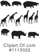 Royalty-Free (RF) african animals Clipart Illustration #1113022