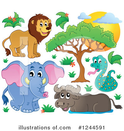 Lion Clipart #1244591 by visekart