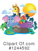 Royalty-Free (RF) African Animals Clipart Illustration #1244592