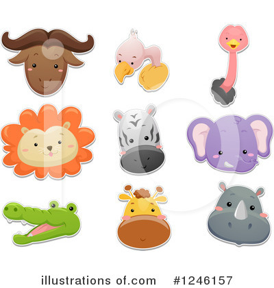 Rhino Clipart #1246157 by BNP Design Studio