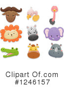 African Animals Clipart #1246157 by BNP Design Studio