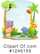 Royalty-Free (RF) African Animals Clipart Illustration #1246159