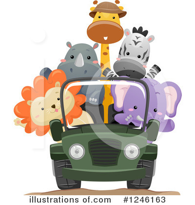 Zoo Animals Clipart #1246163 by BNP Design Studio