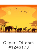 African Animals Clipart #1246170 by BNP Design Studio