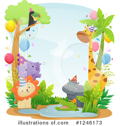 Party Animals Clipart #1246173 by BNP Design Studio