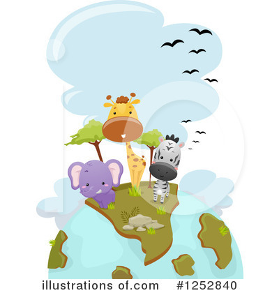 African Animals Clipart #1252840 by BNP Design Studio