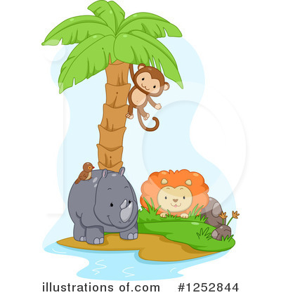 Rhino Clipart #1252844 by BNP Design Studio