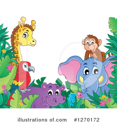 Royalty-Free (RF) African Animals Clipart Illustration by visekart - Stock Sample #1270172