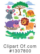 Royalty-Free (RF) African Animals Clipart Illustration #1307800