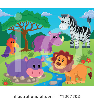 Lion Clipart #1307802 by visekart