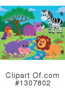 Royalty-Free (RF) African Animals Clipart Illustration #1307802