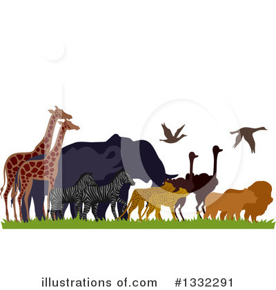 Wild Animals Clipart #1332291 by BNP Design Studio