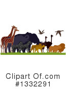 African Animals Clipart #1332291 by BNP Design Studio