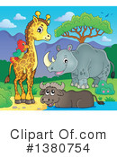 African Animals Clipart #1380754 by visekart