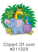 Royalty-Free (RF) African Animals Clipart Illustration #211229