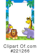 Royalty-Free (RF) african animals Clipart Illustration #221266